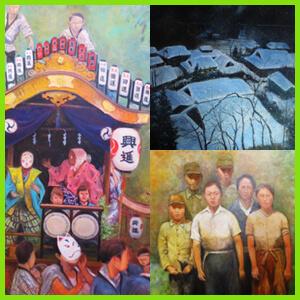 弊社代表の手掛けた、ギャラリー、絵画のページの説明です。代表の作品の数々をご覧ください。